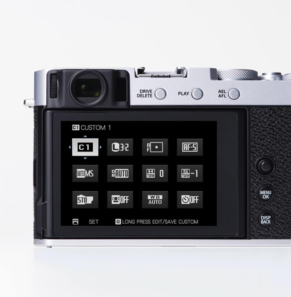 Fujifilm X-E4 menu
